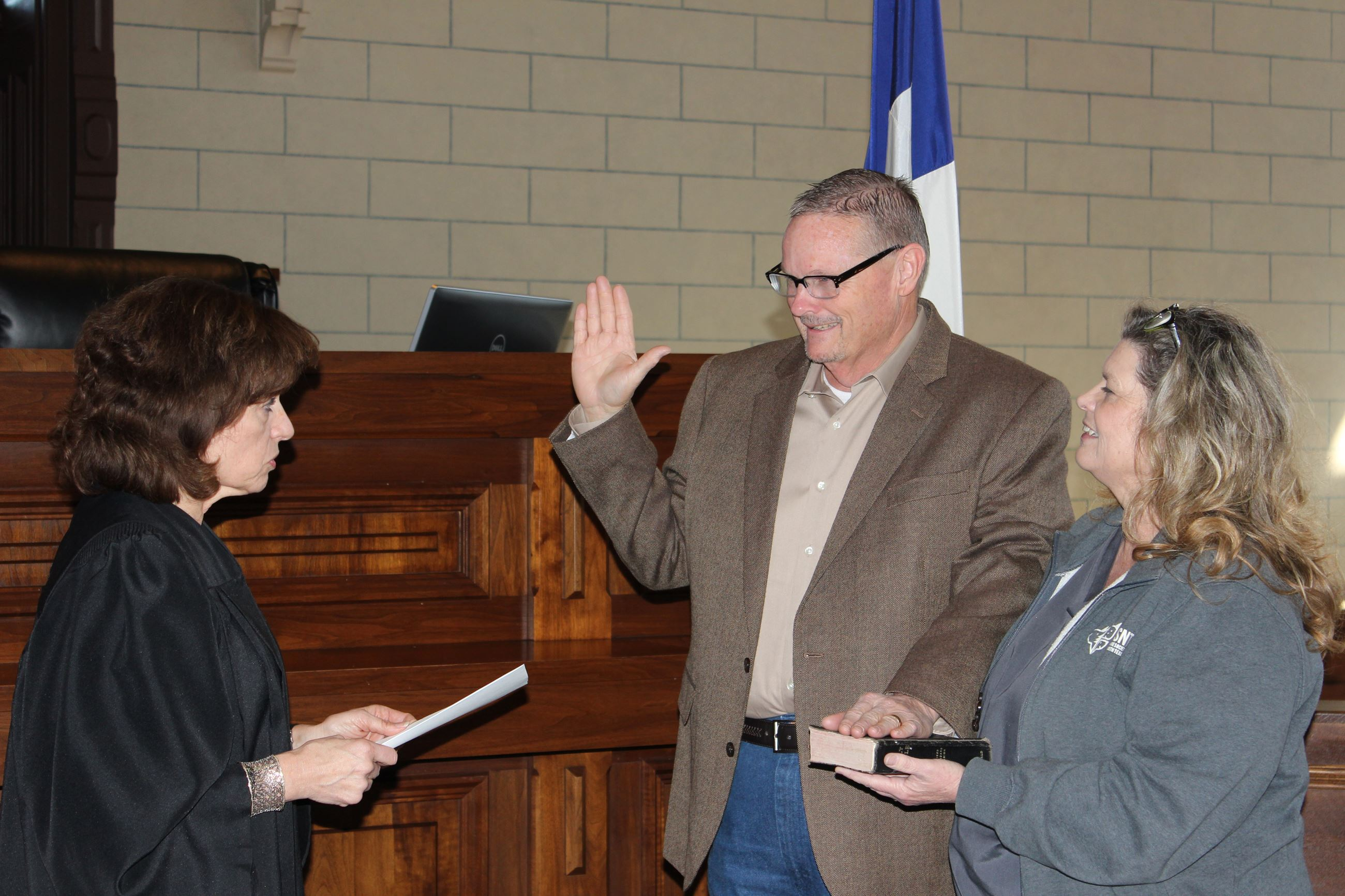 Swearing in of Precinct 1 Constable Ray Jones