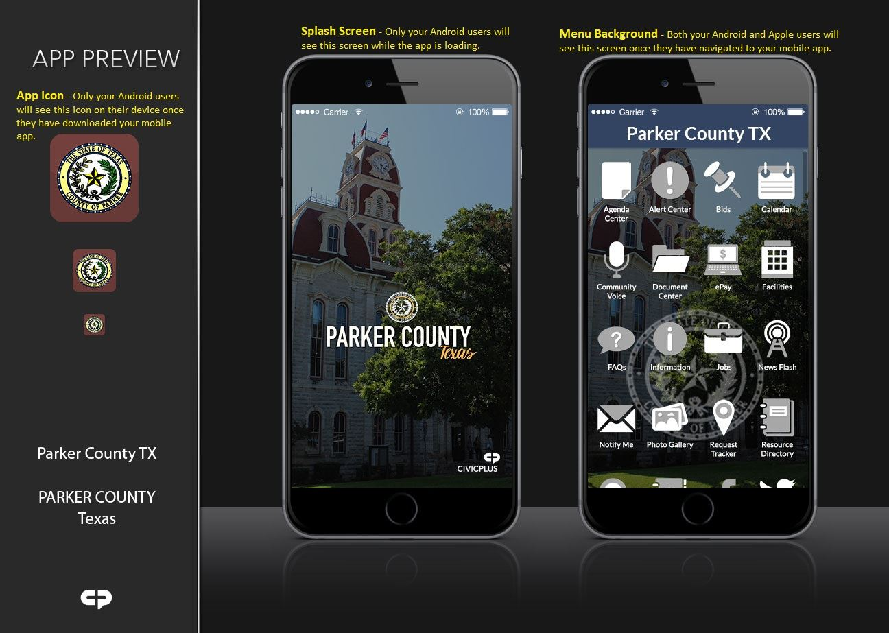 Image of Parker County TX - Mobile App Preview