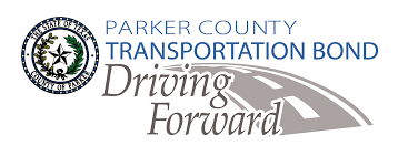 Image that says Parker County Transportation Bond Driving Forward