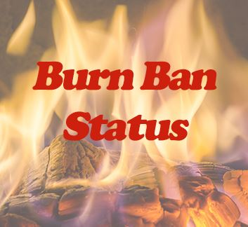 Image that says Burn Ban Status