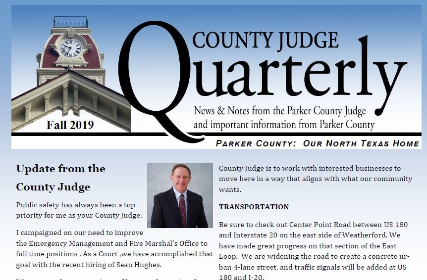 Image of the cover of the Fall 2019 County Judge Quarterly