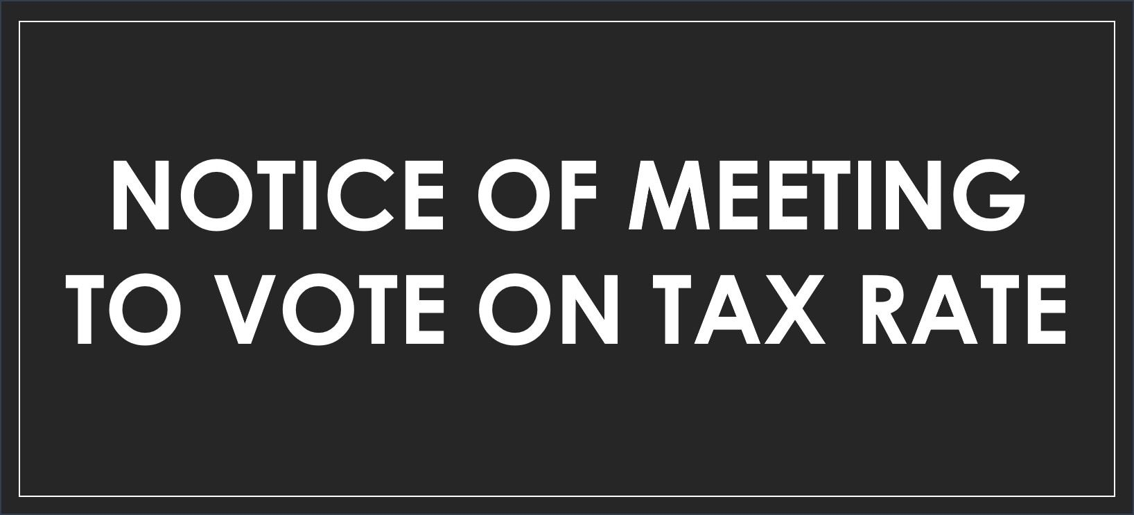 Public Notice Tax Rate